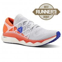 Reebok Floatride Run Running Shoes Mens Spirit White/Cloud Grey/Atomic Red/Blue Move (866NXEKI)