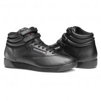 Reebok Freestyle HI Shoes Womens Intense Black (872ZOADE)