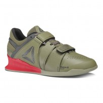 reebok legacy lifter παπουτσια ανδρικα πρασινο/κοκκινα (877fnejd)