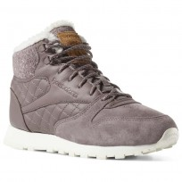 Reebok Cl Lthr Arctic Shoes Womens Almost Grey/Chlk/Sft Camel/Pale Pnk/Snd Taupe (877IKNDE)