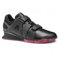 Reebok Legacy Lifter Shoes Mens Black/Primal Red (879GHJQD)