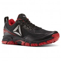 Reebok Ridgerider Trail 2.0 Walking Shoes Mens Black/Primal Red/Silver (884AZPFB)