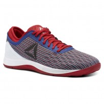 Reebok CrossFit Nano Shoes Womens Excellent Red/Team Dark Royal/White (886TBOPH)