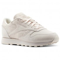 Reebok Classic Leather Shoes Womens Pale Pink/Chalk Pink (890NSYOW)