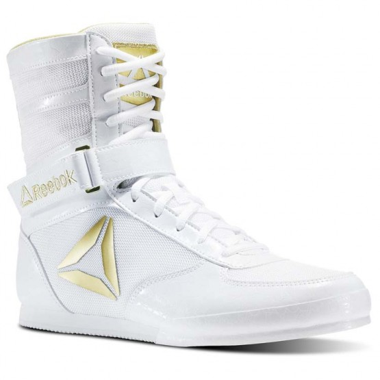 Reebok Boxing Tactical Shoes Mens White/Gold (890QIHLJ)