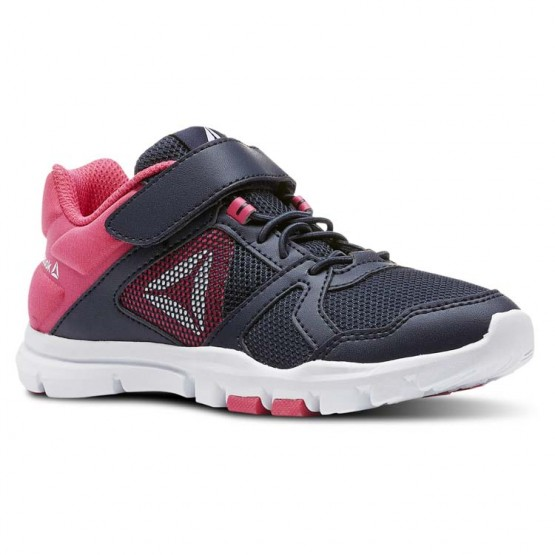 Reebok YourFlex Train 10 Training Shoes Girls Collegiate Navy/Twisted Pink/White (893COVPY)