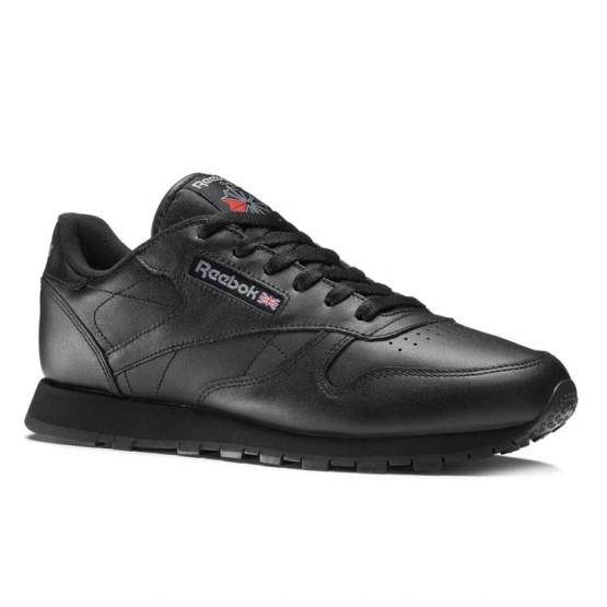 Chaussure Reebok Classic Leather Femme Noir (894RMEVJ)