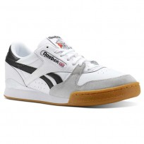 Reebok Phase 1 Pro Shoes Mens Gum-White/Black/Snowy Grey (895QDVJI)