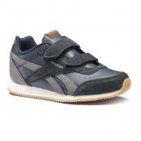 Reebok Royal Classic Jogger Shoes Boys Outdoor/Colleg Navy/Shark/Cream/Wht/Gum (897TOANM)