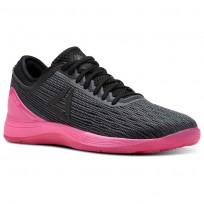 Reebok CrossFit Nano Shoes Womens Alloy/Black/Solar Pink (897VBDHO)