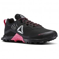 Reebok All Terrain Running Shoes Womens Black/Solar Pink/Silver (903DUKLP)