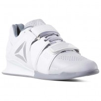Reebok Legacy Lifter Shoes For Women White/Grey/Silver (903FCOGK)