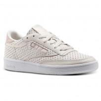 Reebok Club C 85 Shoes Womens Pale Pink/Chalk Pink/White (908EZQGN)