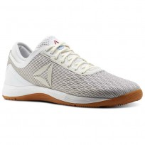 Reebok CrossFit Nano Shoes Mens White/Classic White/Excellent Red/Blue (908ZBMST)