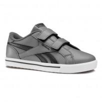 Reebok Royal Comp Shoes Boys Ash Grey/Black/Gum (910CMFVE)