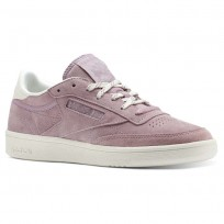 Reebok Club C 85 Shoes Womens Premium Basic 2-Infused Lilac/Chalk (914AZRYG)