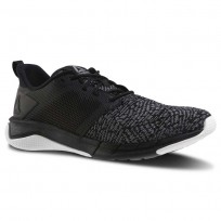 Reebok Print Running Shoes Womens Black/Foggy Grey/White (915GJQSR)