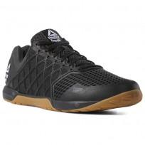 Reebok CrossFit Nano Shoes Womens Black/White/Rubber Gum (915NBCZS)