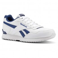 Reebok Royal Glide Shoes For Kids White/Blue (915TEZOJ)