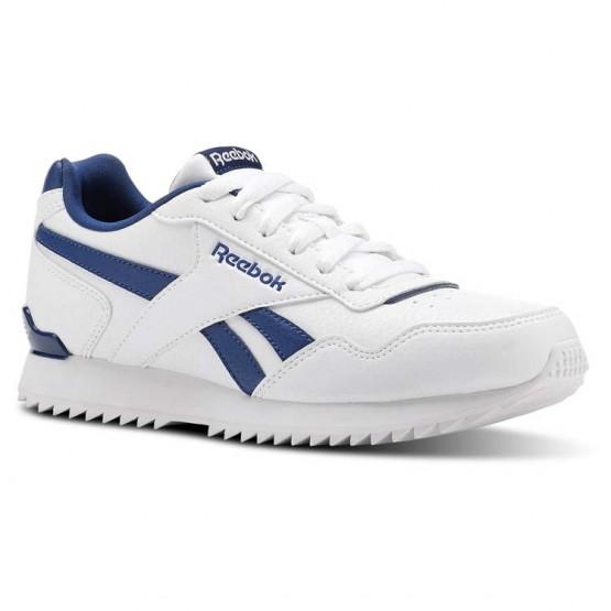 Chaussure Reebok Royal Glide Enfant Blanche/Bleu (915TEZOJ)