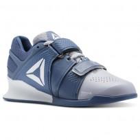 Reebok Legacy Lifter Shoes Womens Cloud Grey/Blue Slate/White (916HVBYW)