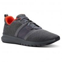 Reebok Print Running Shoes Mens Alloy/Coal/Atomic Red (918XDHYF)