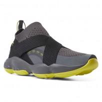 Reebok DMX Fusion Shoes Mens Strap-Ash Grey/Black/Hypergreen (920DZLFX)