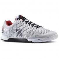 Reebok CrossFit Nano Shoes Mens Porcelain/Black/White/Excellent Red (921OXMJF)