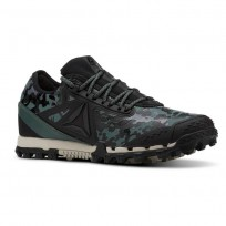 Reebok AT SUPER 3.0 Running Shoes Womens Camo-Black/Alloy/Chalk Green/Parchment (922GITOP)