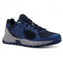 Reebok Sawcut Walking Shoes Mens Collegiate Nvy/Bunker Blue/Solar Grn/Skullgry (924KNUDX)