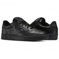 Reebok Club C 85 Shoes Mens Intense Black/Charcoal (927QYORD)