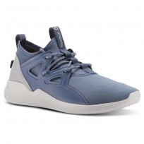 Reebok Cardio Motion Studio Shoes Womens Blue Slate/Cloud Grey/Spirit Wht/Digital Pink (927ZNARP)