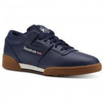 Reebok Workout Clean Shoes Mens Trc-Collegiate Navy/Chalk/Gum (931HJNPY)
