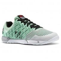 Reebok CrossFit Nano Shoes Womens Mint Glow/Porcelain/Black/Met Silver (932WHGAX)