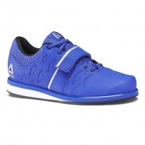 Reebok Lifter PR Shoes Mens Vital Blue/Black/Pure Silver (933DMYXG)