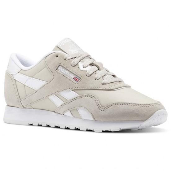 Reebok Classic Nylon Shoes Womens Beige/Sandstone/White (937DTNVB)