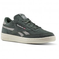 Reebok Revenge Plus Shoes For Men Green/Grey/Red (938HCMDX)