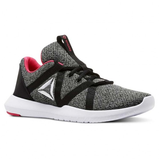 Reebok Reago Training Shoes Womens Black/Tin Grey/White/Twisted Pink (939GSFEQ)