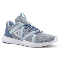 Reebok Reago Training Shoes Womens Blue Slate/Dreamy Blue/White (939YCXOZ)