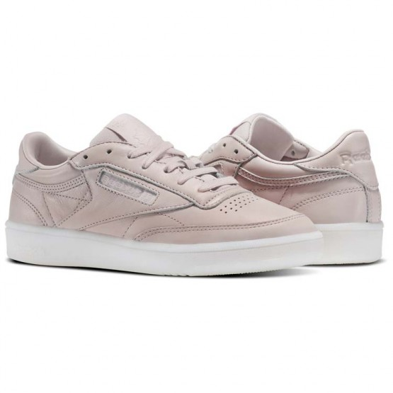 Reebok Club C 85 Shoes Womens Pink/Moonwhite (941HRENC)
