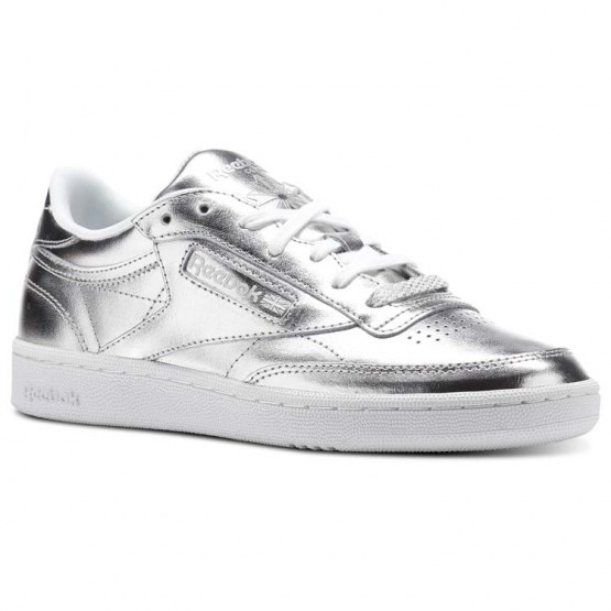 Reebok Club C 85 Shoes Womens Silver/White (941PTYRN)