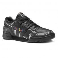 Reebok Workout Plus Shoes Mens Ta-Black/White/Primal Red (942MXZKV)
