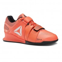 Reebok Legacy Lifter Shoes Womens Vitamin C/Black/White (947ZKTWO)