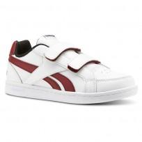 Reebok Royal Prime Shoes Kids White/Triathlon Red/Black (952BYJMP)