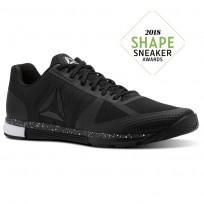 Reebok Speed Training Shoes Mens Black/White (954YTUFD)