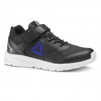 Reebok Rush Runner Running Shoes Boys Black/Vital Blue (957AMBDJ)