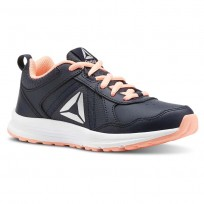 Reebok ALMOTIO 4.0 Running Shoes Girls Col Navy/Dgtl Pnk/Slvr Met (958JVWFU)