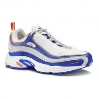 Reebok Daytona DMX Shoes Mens White/Blue Move/Skull Grey/Bright Lava (958LONHP)