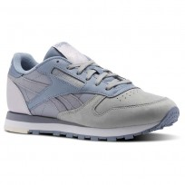 Chaussure Reebok Classic Leather Femme Grise/Grise (966TJAPZ)