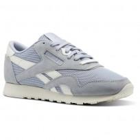 Reebok Classic Nylon Shoes Womens Cloud Grey/Chalk (969NUEVF)